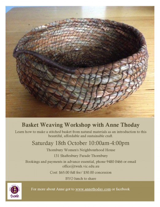 Basket Weaving at Thornbury Neighbourhood House